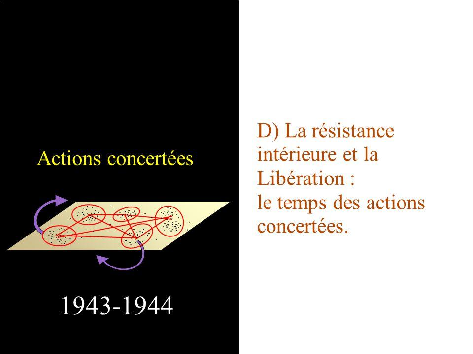 1943-1944 D) La résistance intérieure et la Libération :