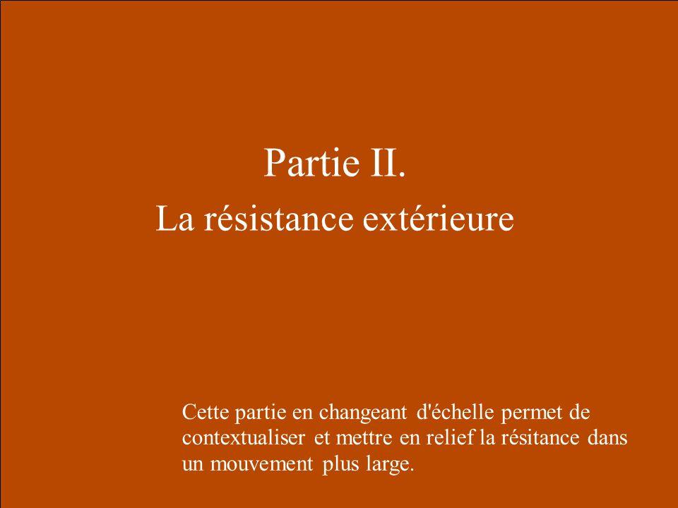 La résistance extérieure