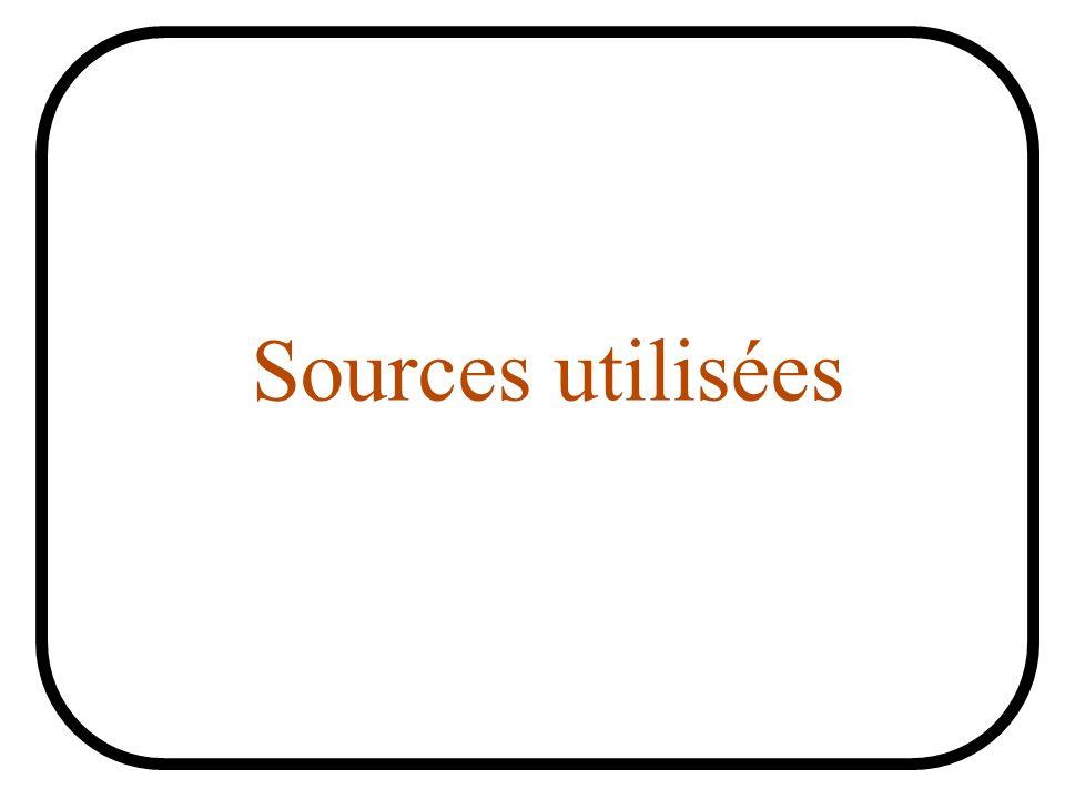 Sources utilisées