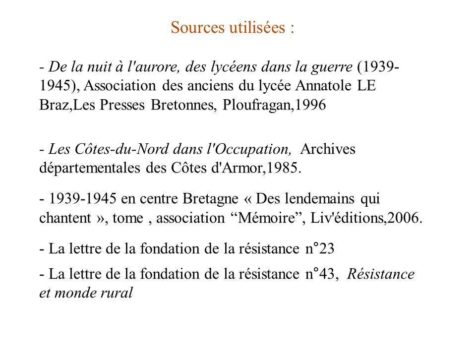 Sources utilisées :