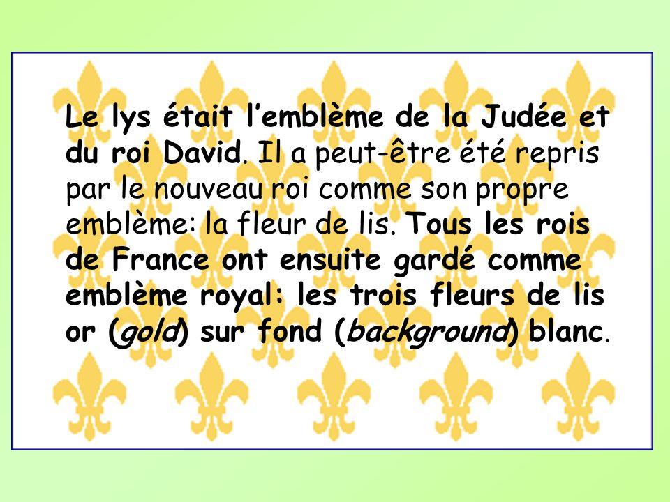 Le lys était l'emblème de la Judée et du roi David
