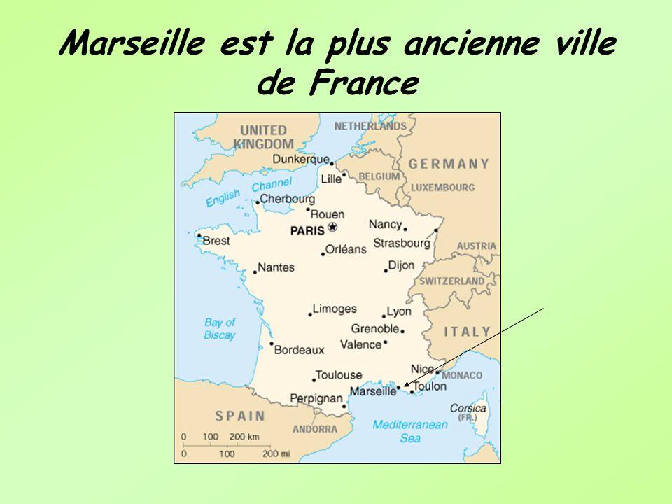 Marseille est la plus ancienne ville de France