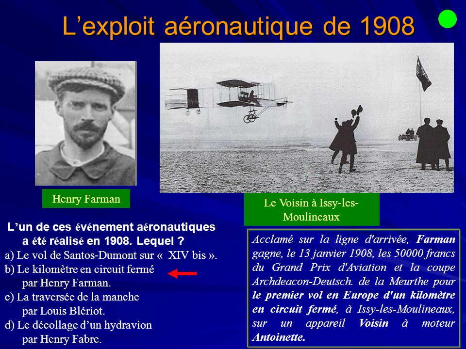 L'exploit aéronautique de 1908