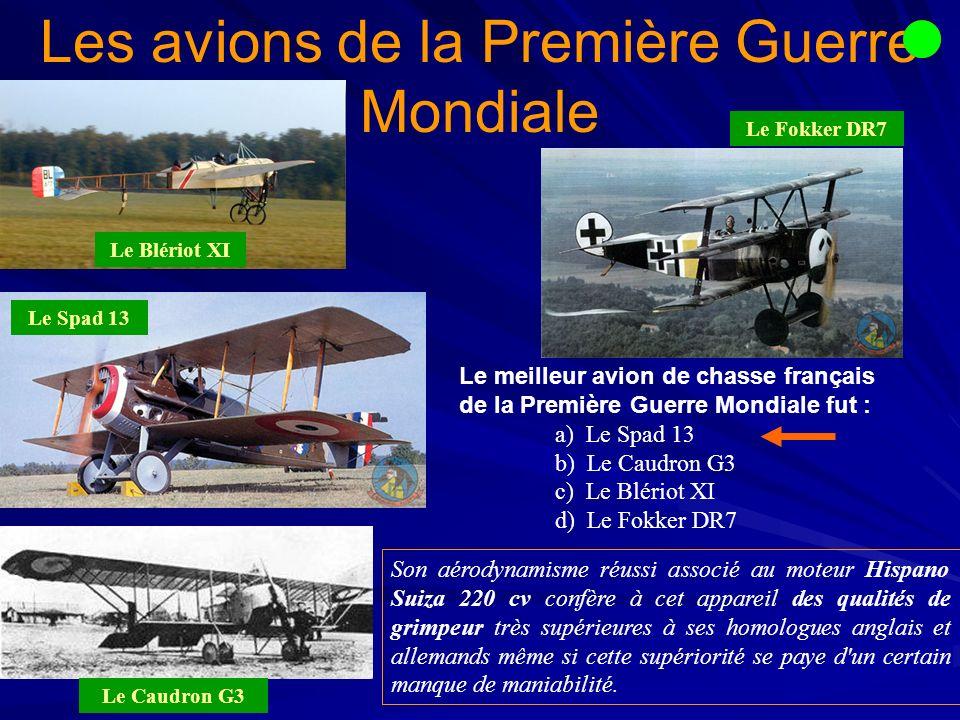 Les avions de la Première Guerre Mondiale