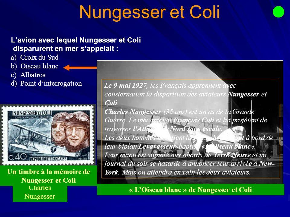 Nungesser et Coli L'avion avec lequel Nungesser et Coli