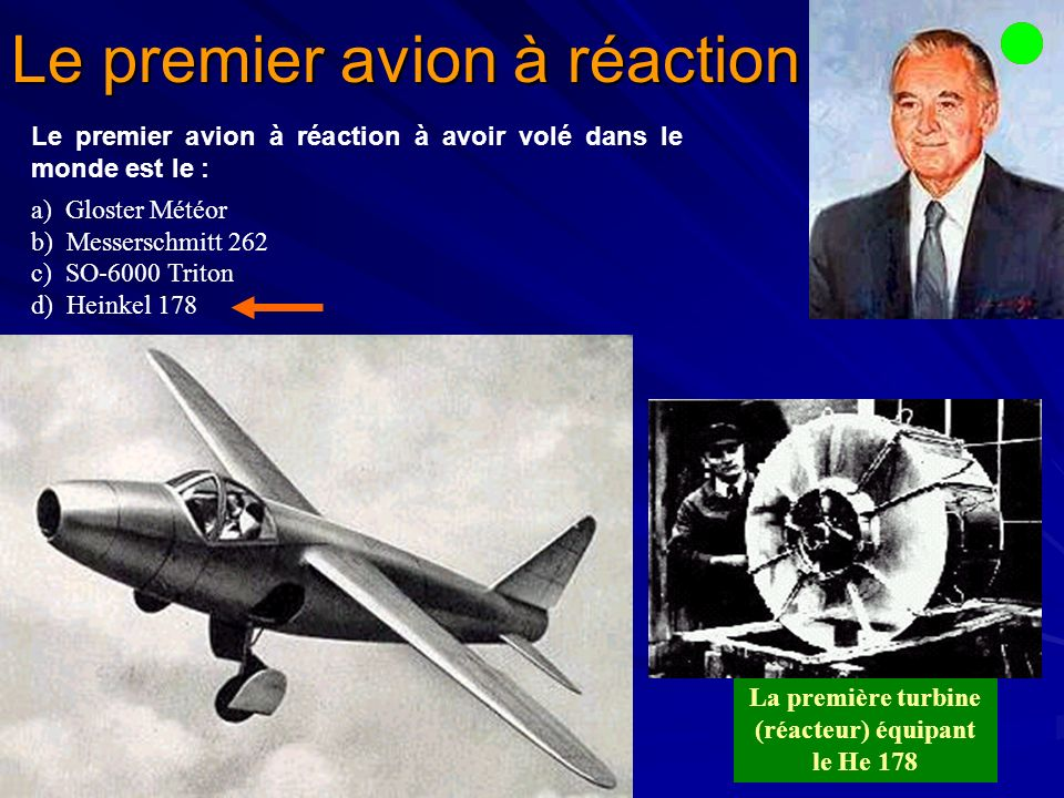 Le premier avion à réaction