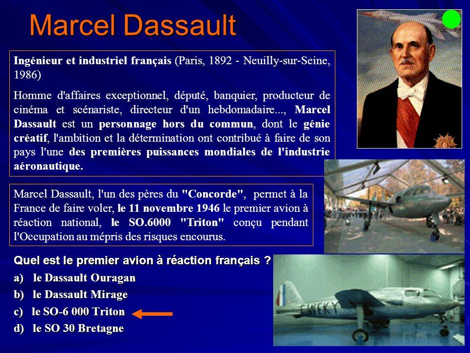Marcel Dassault Ingénieur et industriel français (Paris, 1892 - Neuilly-sur-Seine, 1986)