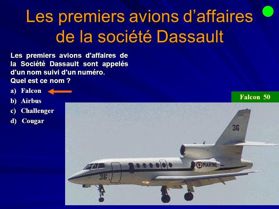 Les premiers avions d'affaires de la société Dassault
