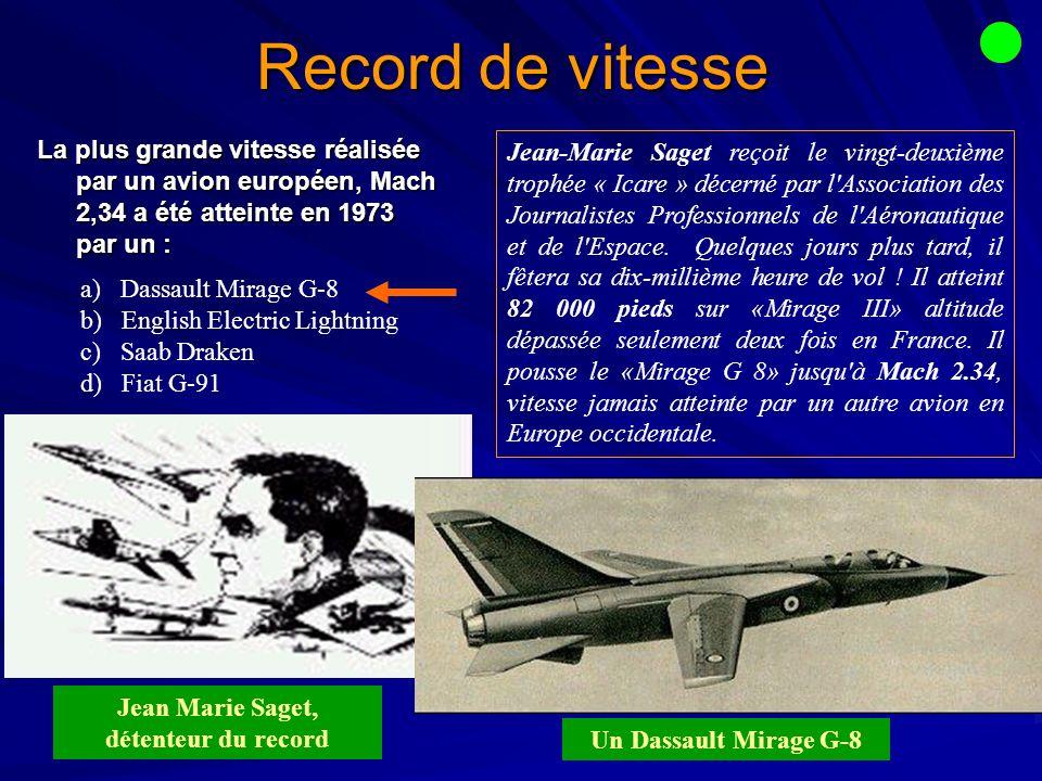 Jean Marie Saget, détenteur du record