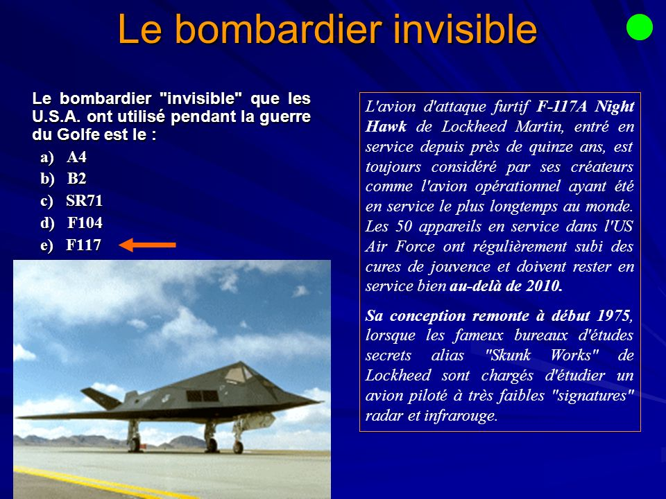 Le bombardier invisible