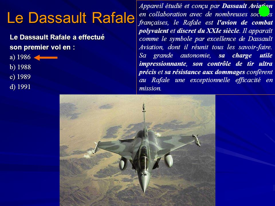 Le Dassault Rafale
