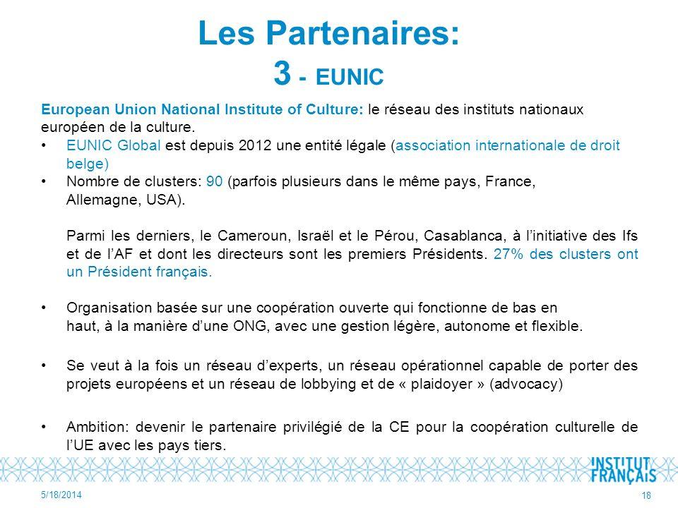 Les Partenaires: 3 - EUNIC