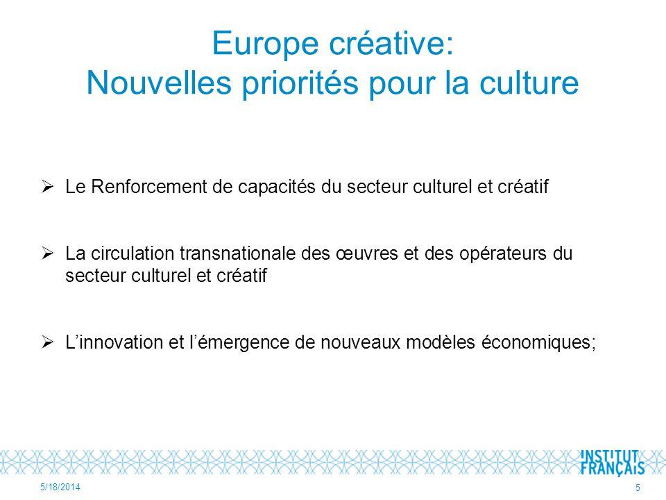Europe créative: Nouvelles priorités pour la culture