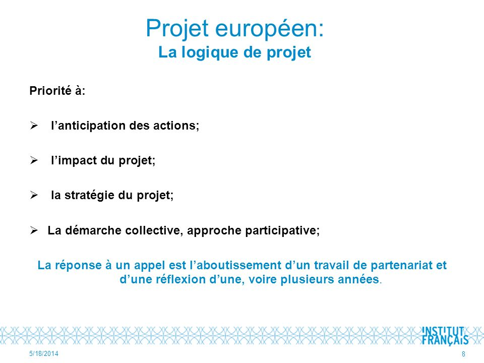 Projet européen: La logique de projet