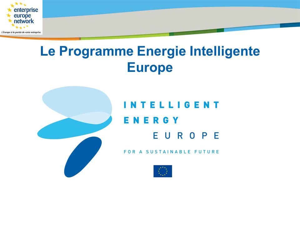 Le Programme Energie Intelligente Europe