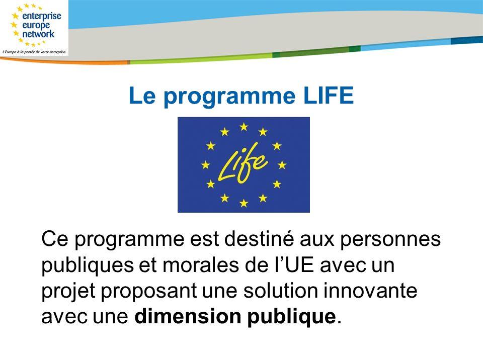 Le programme LIFE