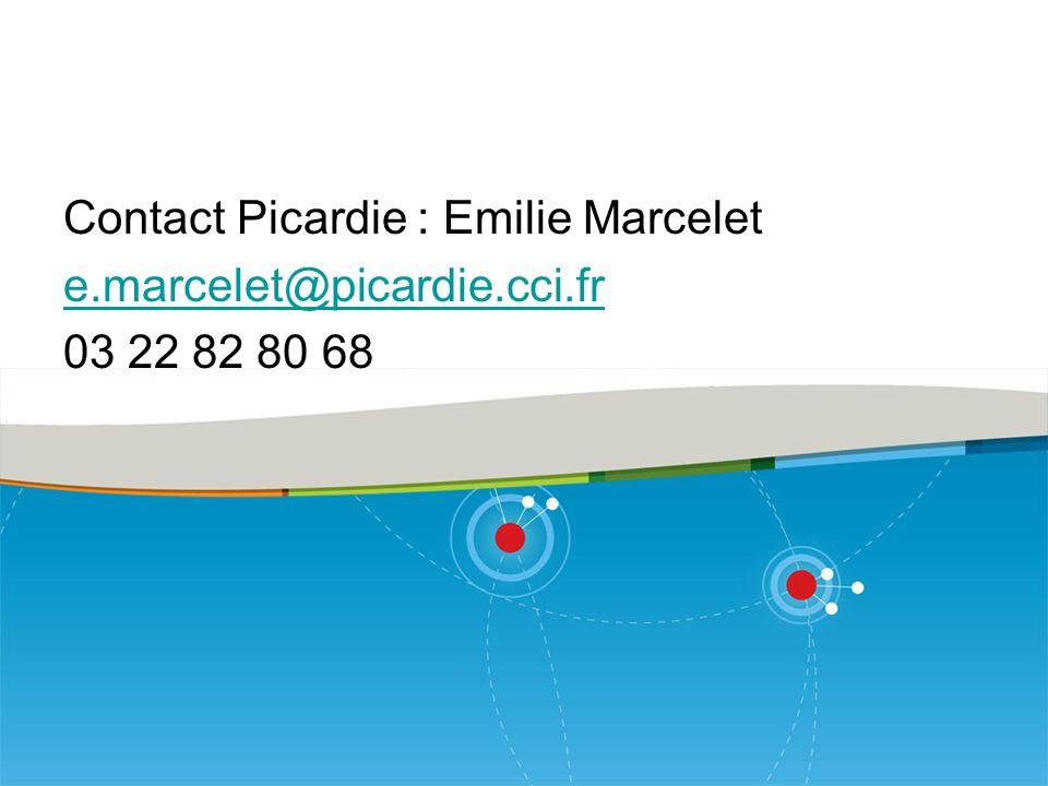 Contact Picardie : Emilie Marcelet e. marcelet@picardie. cci