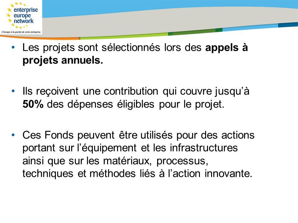 Les projets sont sélectionnés lors des appels à projets annuels.