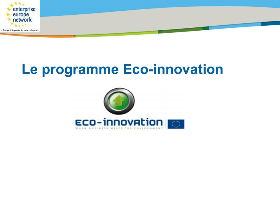 Le programme Eco-innovation