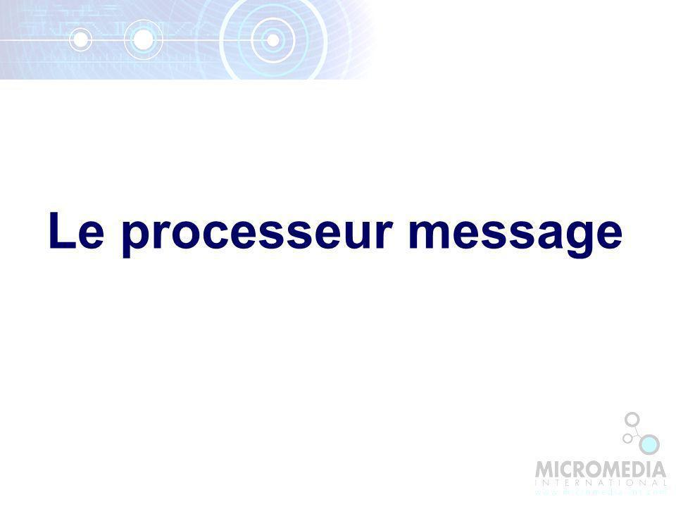 Le processeur message