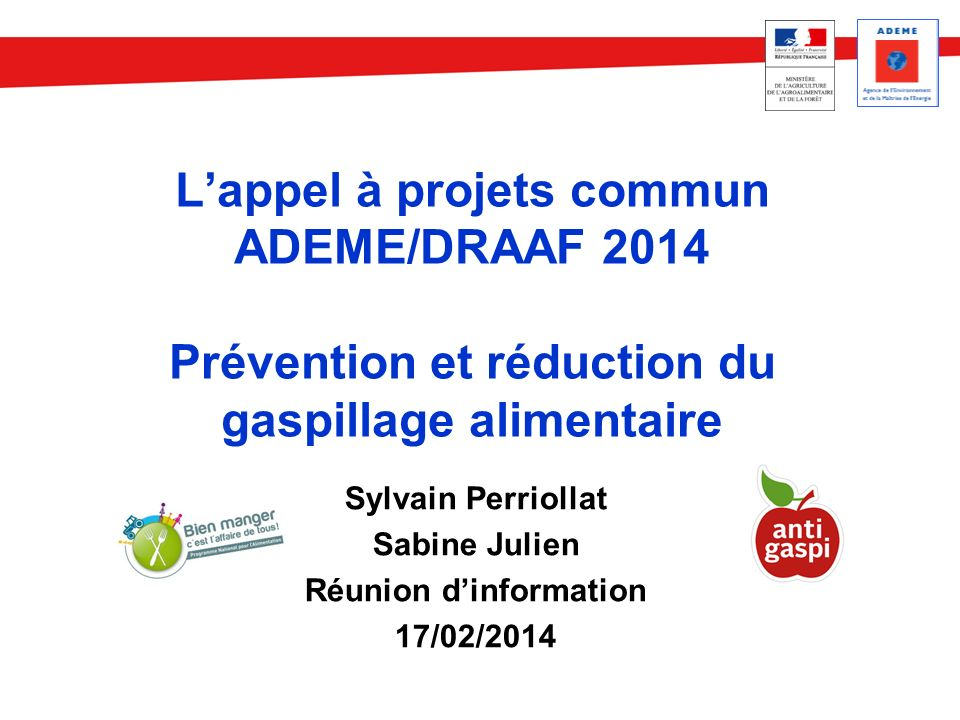 Sylvain Perriollat Sabine Julien Réunion d'information 17/02/2014
