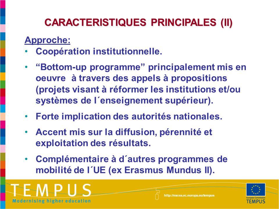 CARACTERISTIQUES PRINCIPALES (II)