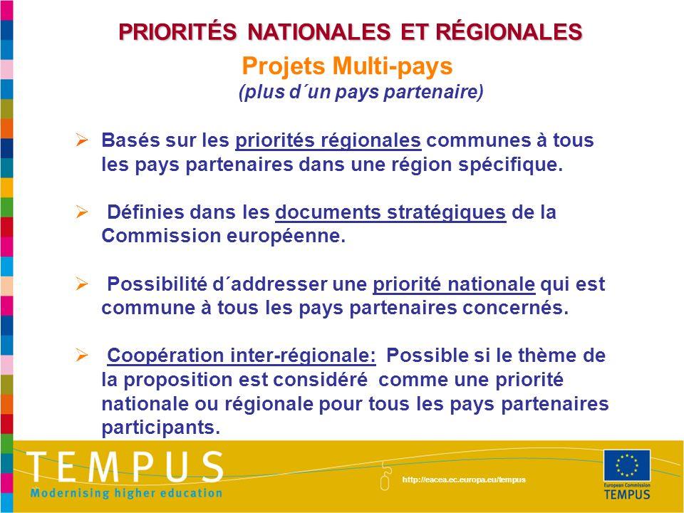 Projets Multi-pays (plus d´un pays partenaire)
