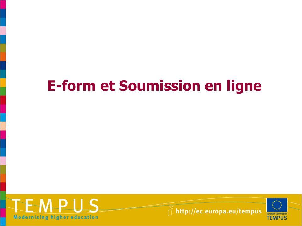 E-form et Soumission en ligne