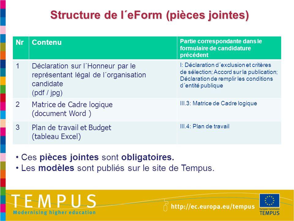 Structure de l´eForm (pièces jointes)