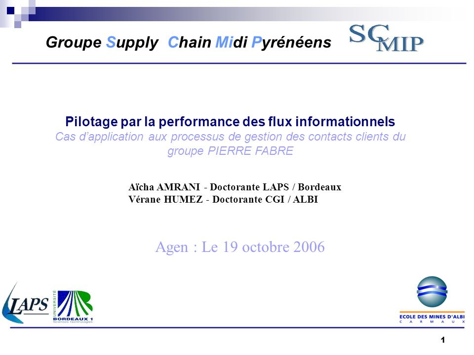 Pilotage par la performance des flux informationnels
