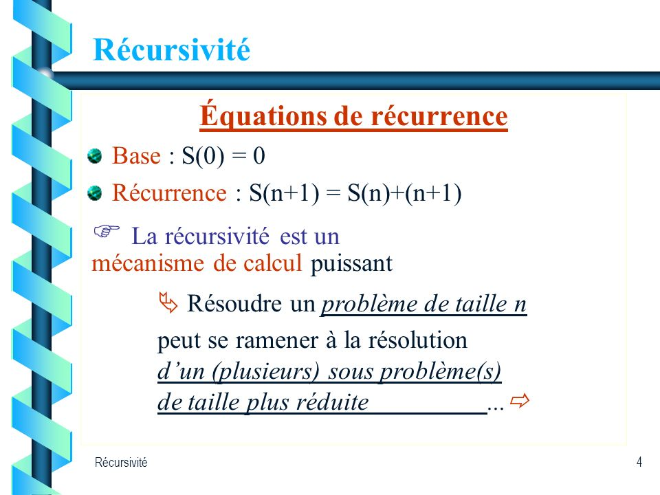 Équations de récurrence