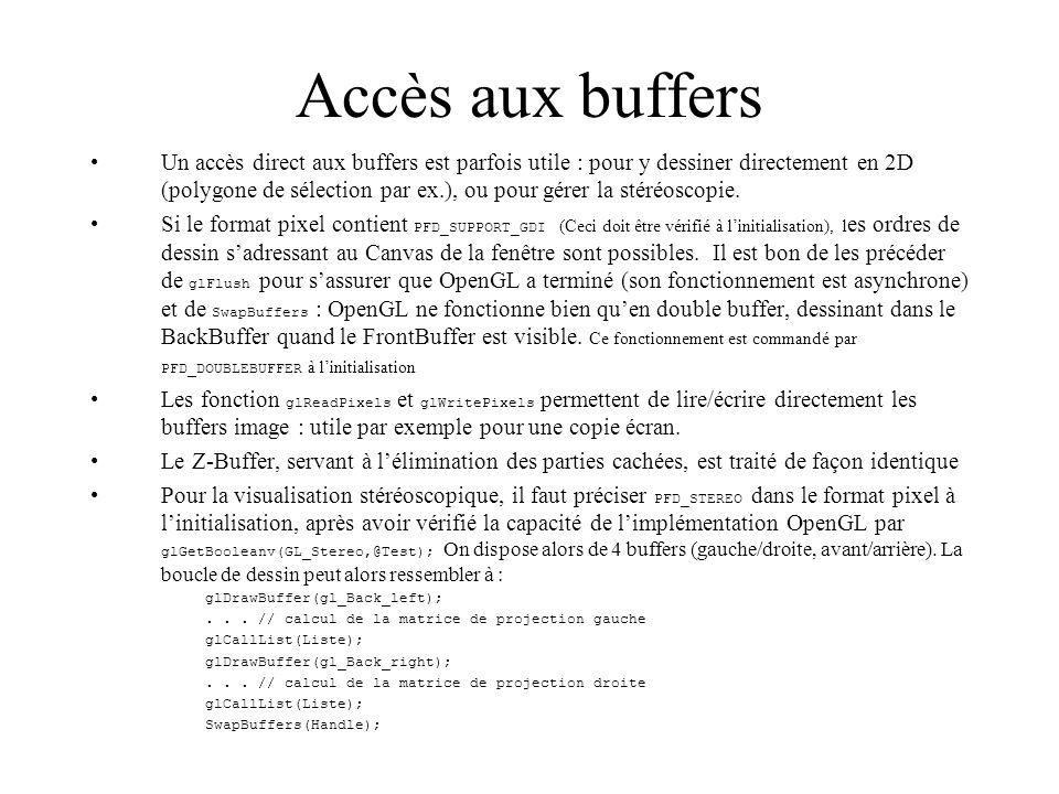 Accès aux buffers