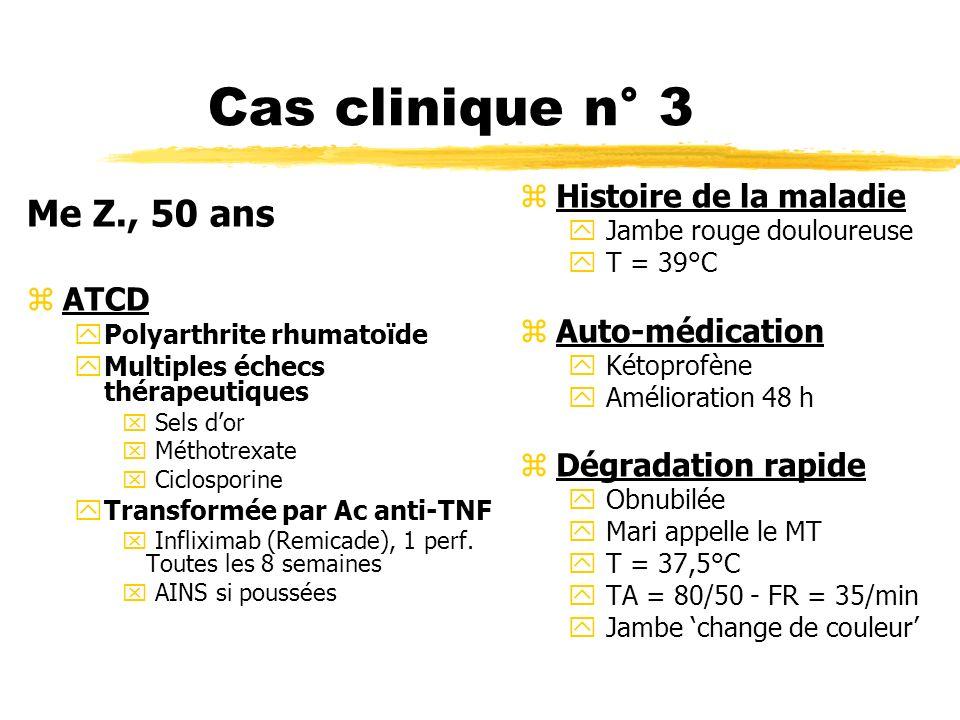 Cas clinique n° 3 Me Z., 50 ans Histoire de la maladie ATCD