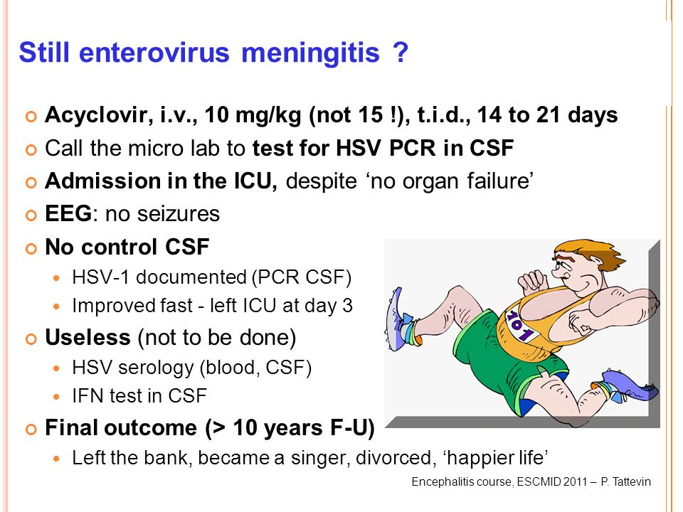 Still enterovirus meningitis