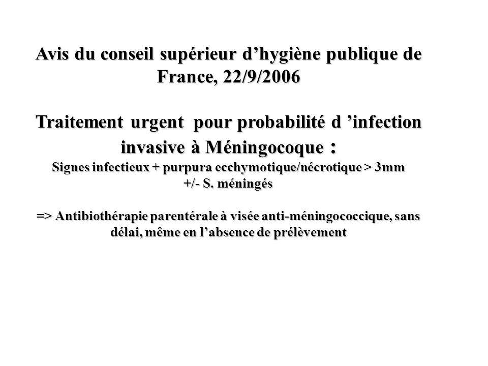 Avis du conseil supérieur d'hygiène publique de France, 22/9/2006