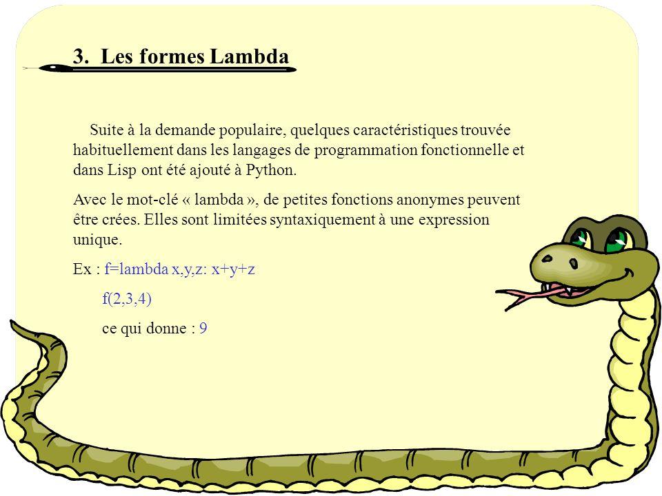 3. Les formes Lambda