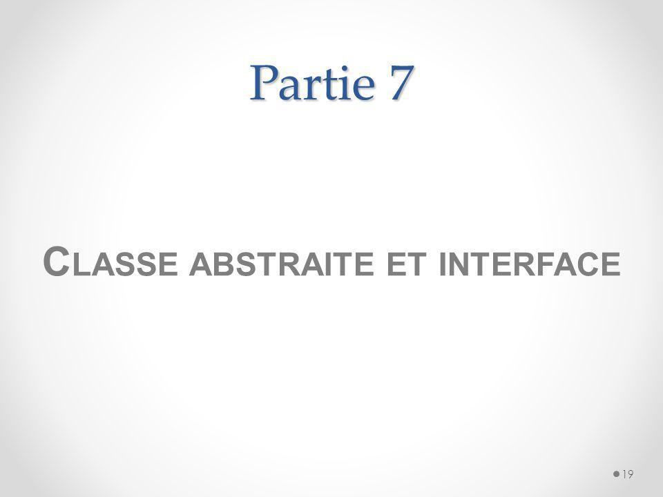 Classe abstraite et interface