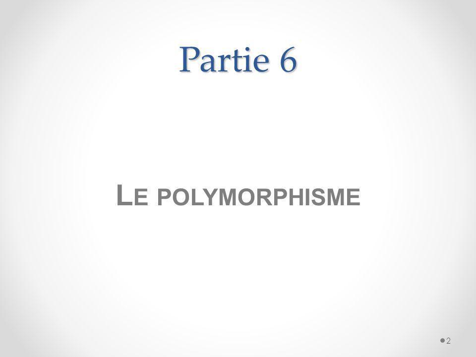Partie 6 Le polymorphisme