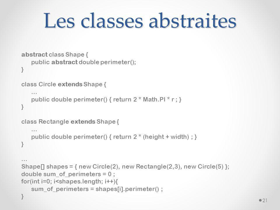 Les classes abstraites