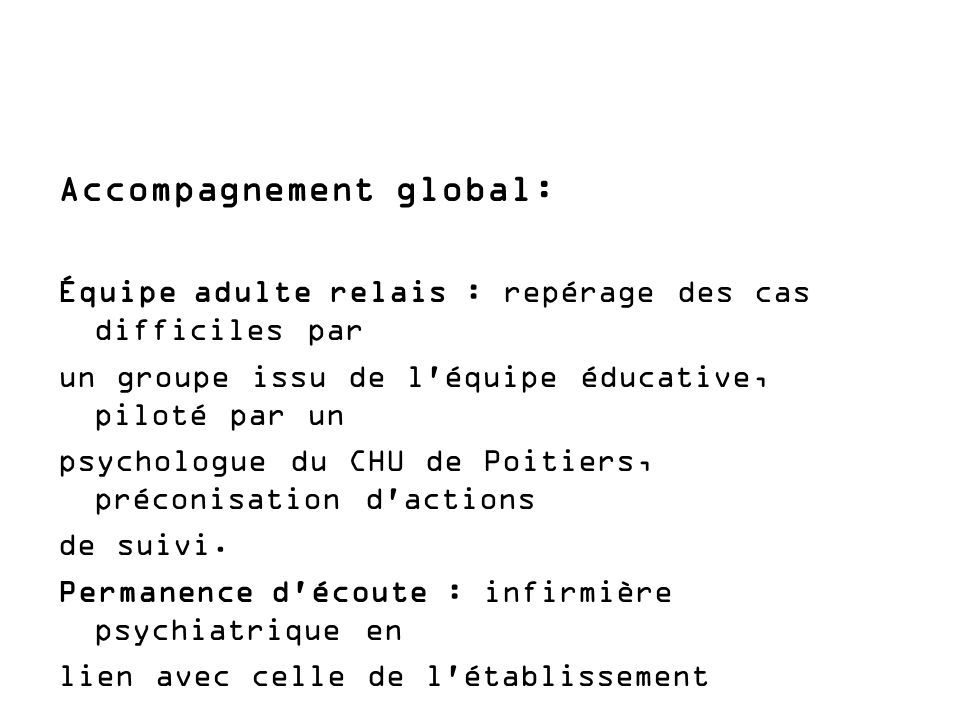 Accompagnement global: