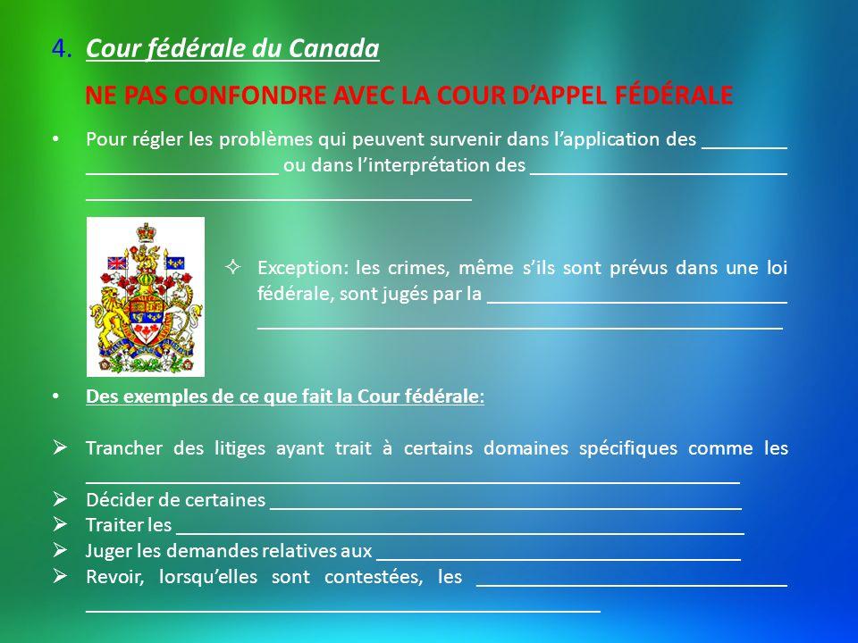 4. Cour fédérale du Canada