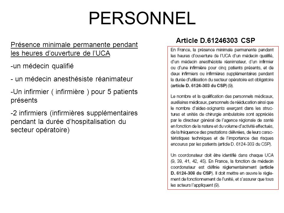 PERSONNEL Article D.61246303 CSP