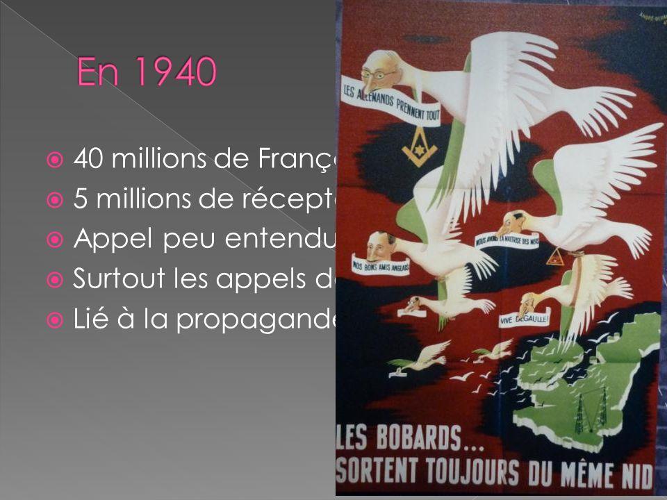 En 1940 40 millions de Français 5 millions de récepteurs
