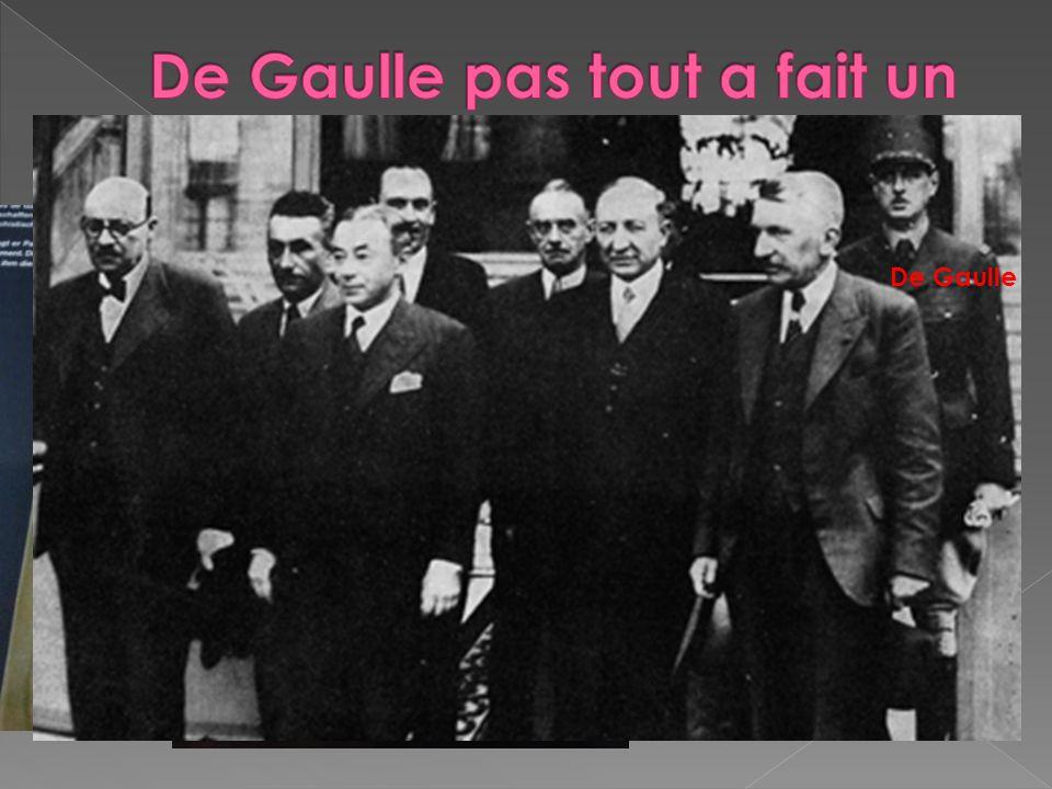 De Gaulle pas tout a fait un inconnu.