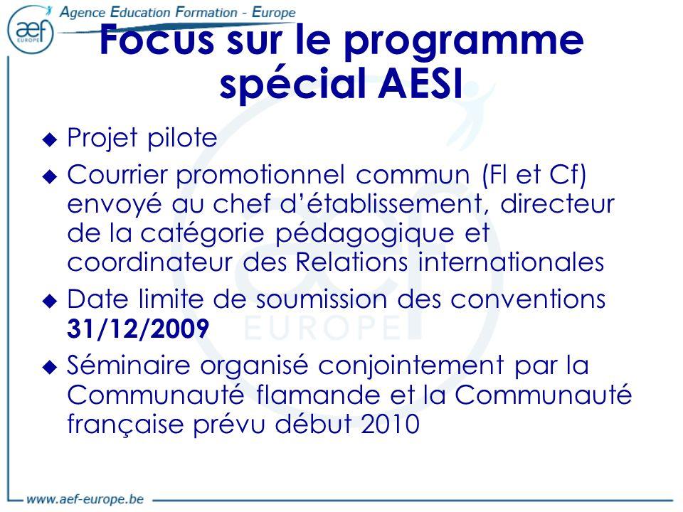 Focus sur le programme spécial AESI