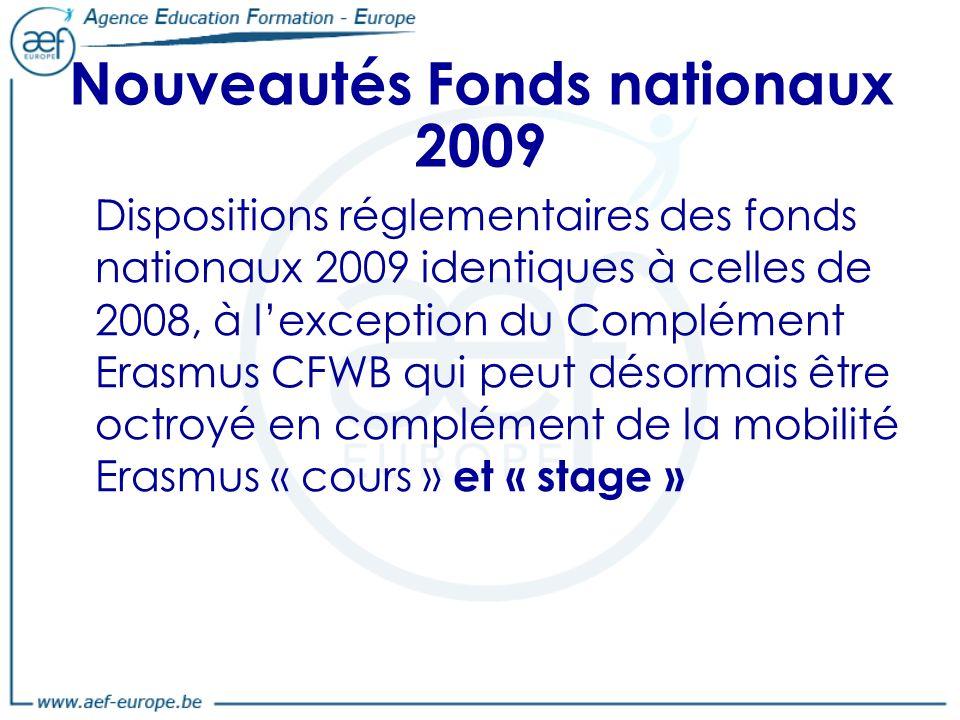 Nouveautés Fonds nationaux 2009