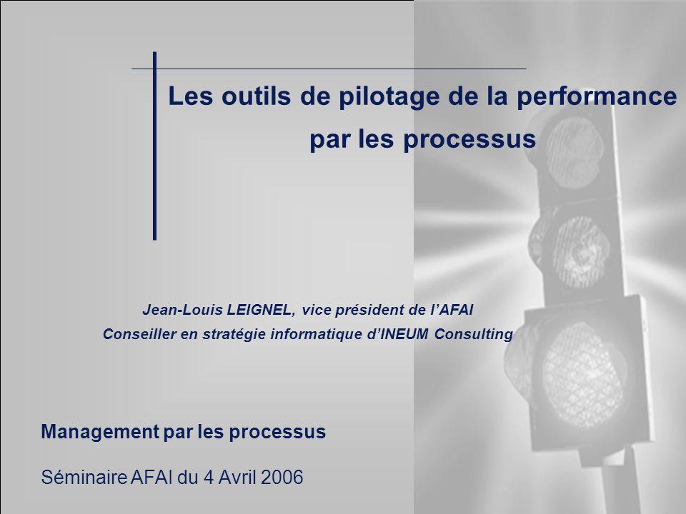 Les outils de pilotage de la performance par les processus