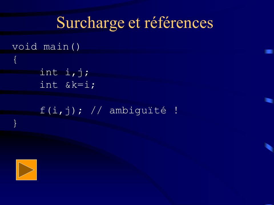 Surcharge et références