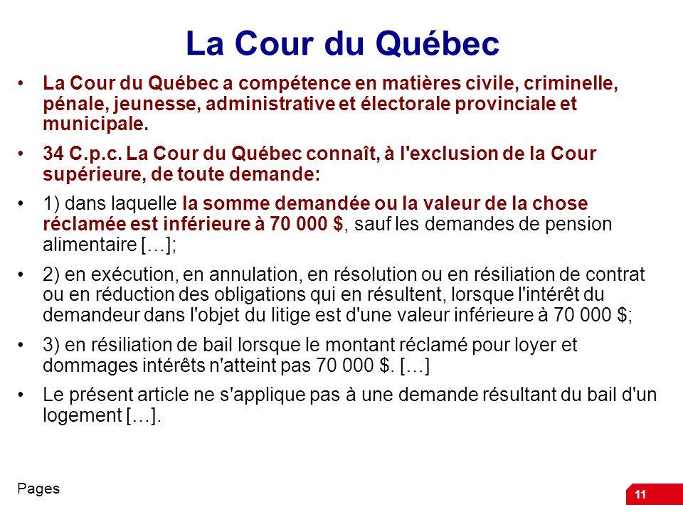 La Cour du Québec