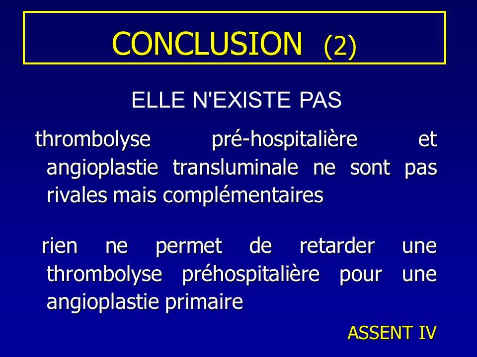 CONCLUSION (2) ELLE N EXISTE PAS